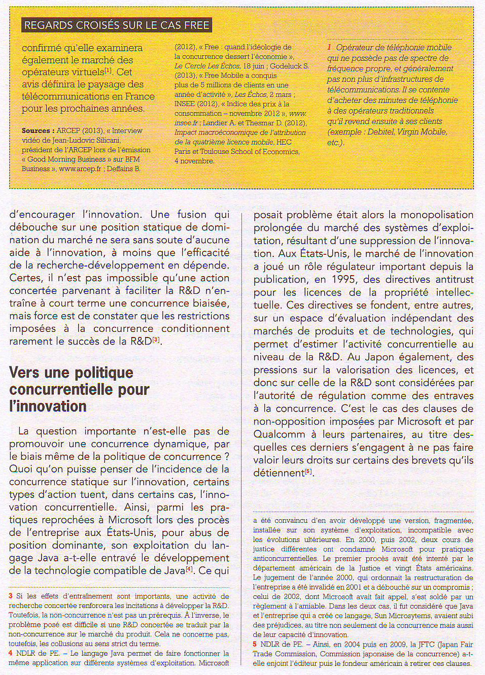 Concurrence et innovation, une relation complexe