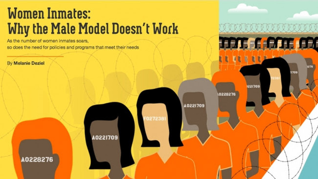 "The New York Times and native ad: ""Women inmates: why the male model doesn't work""."